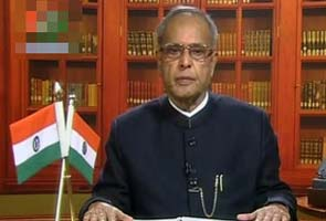 New Delhi:President Pranab Mukherjee addresses the nation on the eve of Independence Day