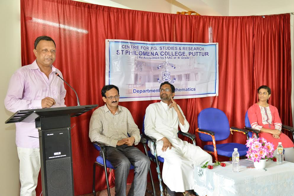 Workshop on 'Methodology for project work in Mathematics' held at St. Philomana College