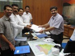 Delegation Led By P V Mohan and Denis DSilva meet DRM, Southern Railway