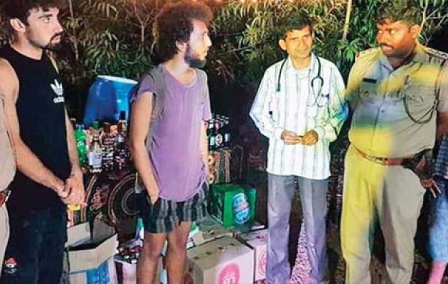 Two Israelis youths arrested after rave party busted in forest near Gokarna