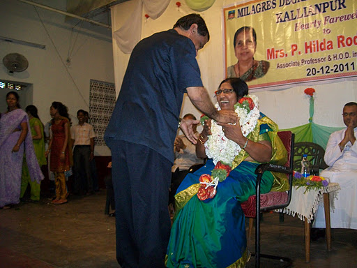 Hearty Farewell & Felicitation to beloved Professor Hilda P Rodrigues of Milagres College