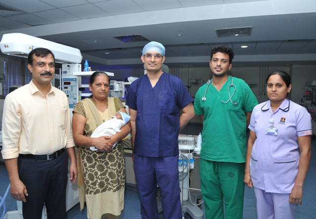 Successful open heart surgery on 4-day-old baby at Kasturba Hospital Manipal
