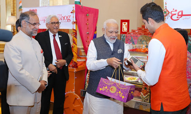 PM Modi promotes Rupay card in UAE, buys laddoo from Chhappan Bhog