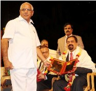K.Shetty Recieved RAJYOTSAVA AWARD at Bangalore on 01-11-2010