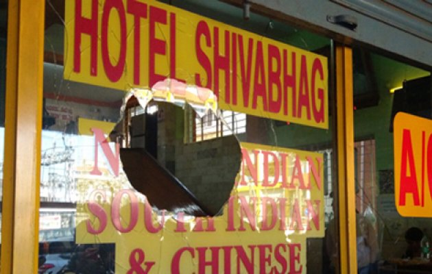 Stones pelted at Hotel Shivbagh during Bharath Bandh, one arrested