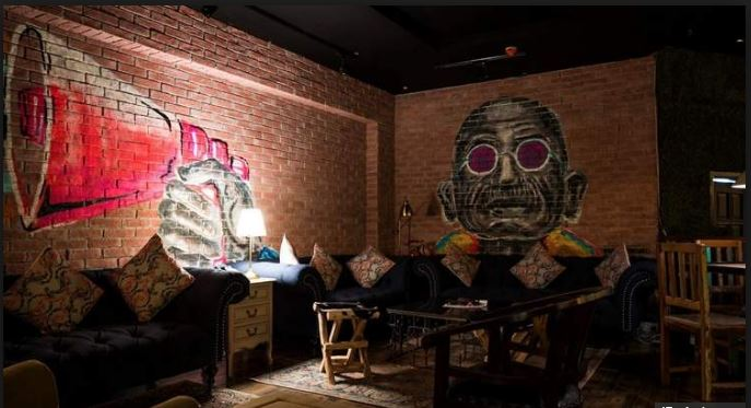 Gandhi fans upset over a mural in Dubai pub
