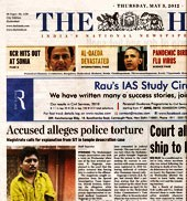 The Hindu's front page story raises eyebrows in Hyderabad