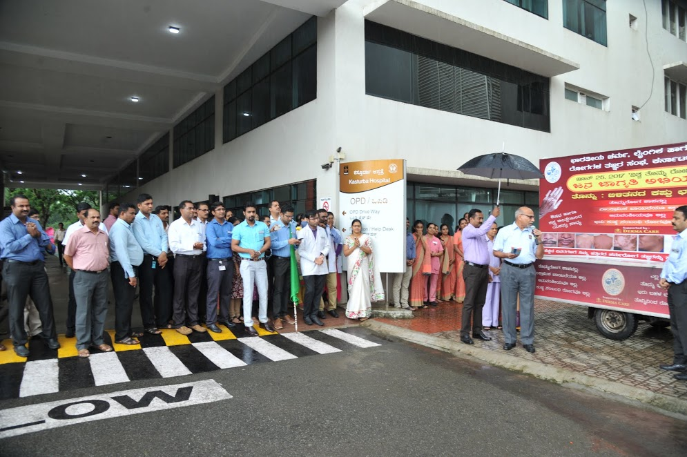 Vitiligo Ratha for Vigiligo awareness campaign flagged off at Manipal