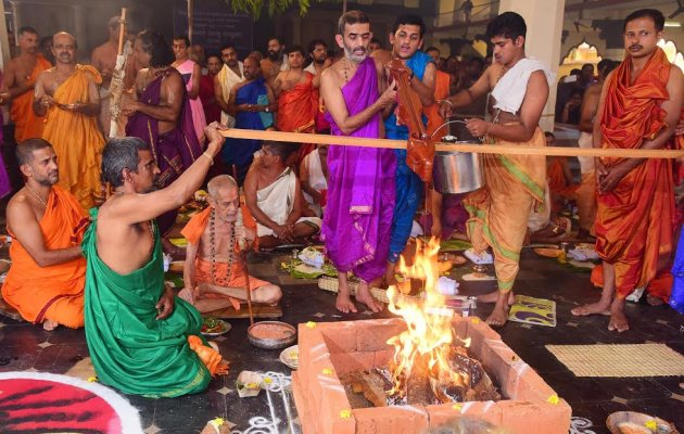 Pejavar Seer celebrates his 79th year of Sainthood at Udupi