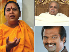 Uma Bharti deflects attention from Nirmal Baba