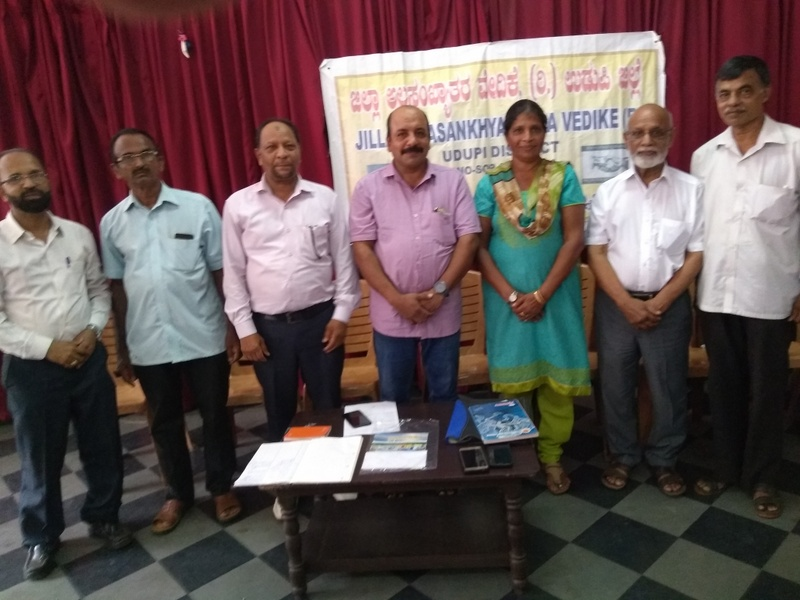 Mrs Sevrine D'Sa of Belman elects as President of Udupi Zilla Alpasankyatara Vedike