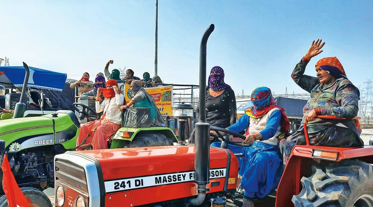 'Daughters of farmers' on tractors headed for Delhi