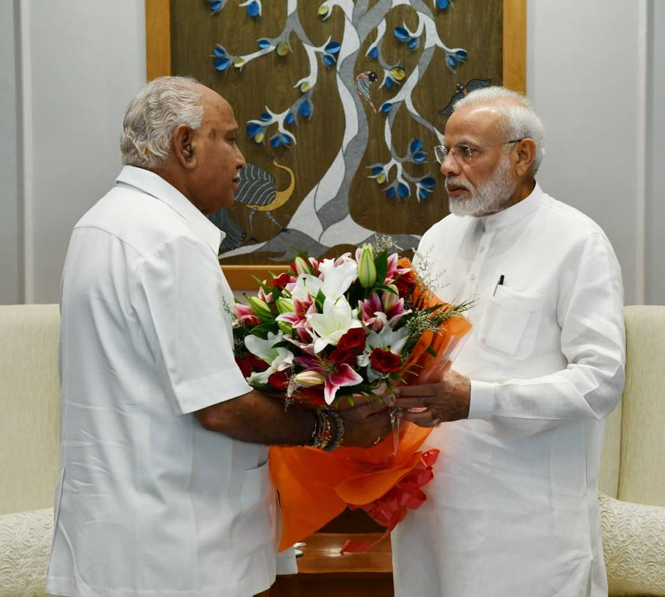 Yediyurappa meets PM, seeks immediate funds for flood relief