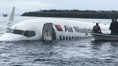 Plane ditches into Pacific lagoon, passengers swim for their lives