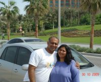 Fiona and Achutha Prabhu,Dubai